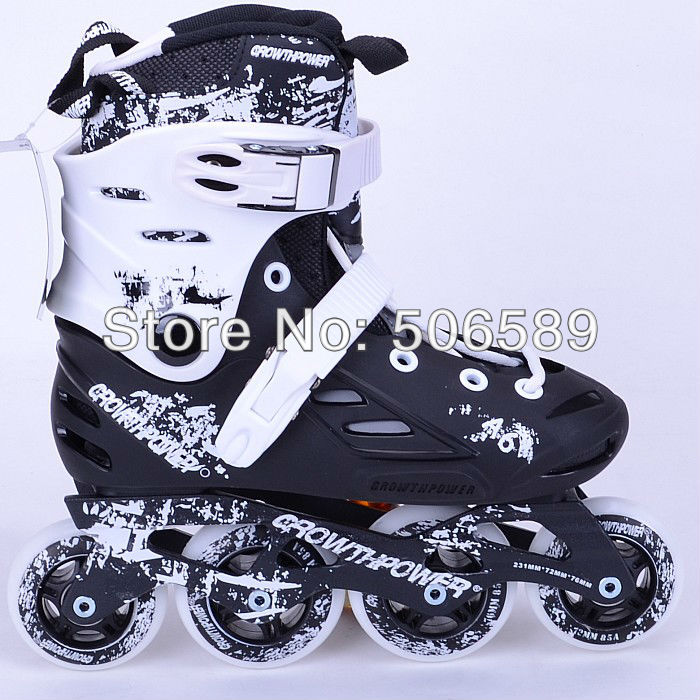 Adult's Roller Skates Growthpower A6 Black And Red Color Free Shipping