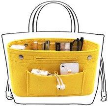Obag чувствовал ткань внутренняя сумка Для женщин модные сумки мульти-карманы организатор косметическая хранения сумки Чемодан сумки, аксессуары