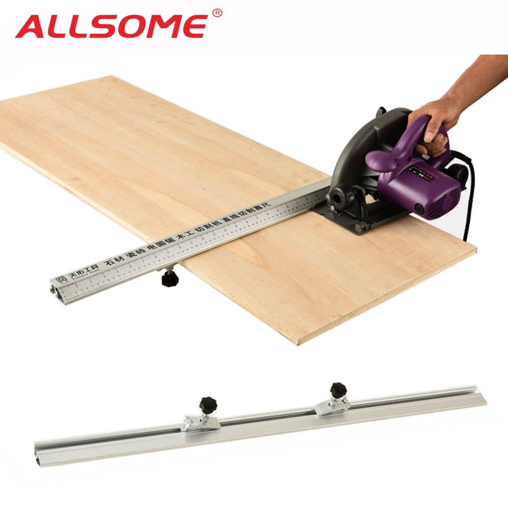 ALLSOME 3 en 1 45 degrés chanfrein luminaire électrique scie circulaire Machine de découpe Guide pied règle Guide outils de menuiserie HT2549