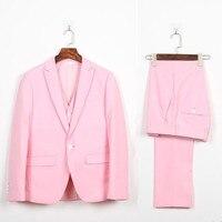 Ropa hombre trajes de Hombre, novio mejor hombre trajes de boda esmoquin un botón nuevo de la llegada vestido de fiesta trajes (jacket + pants + vest)
