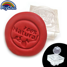 Acrylic DIY resin chapter Artificial soap making of pure nature handmade Resin soap stamp chapter mini diy patterns Z0183NT
