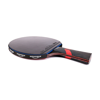 Blade rubber with double face pimples in ping pong rackets with case 1