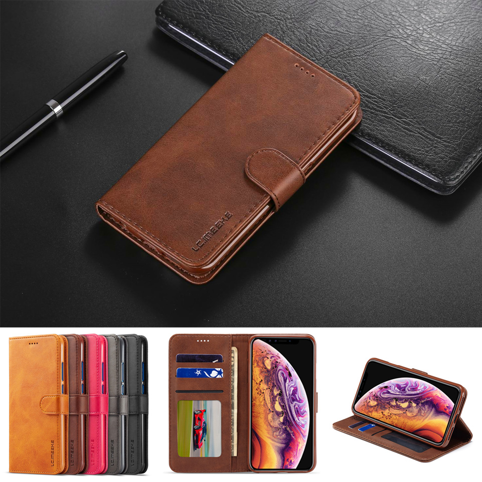 Leather Wallet Case For iPhone SE Case iPhone 5S Flip Phone Case with Credit Car