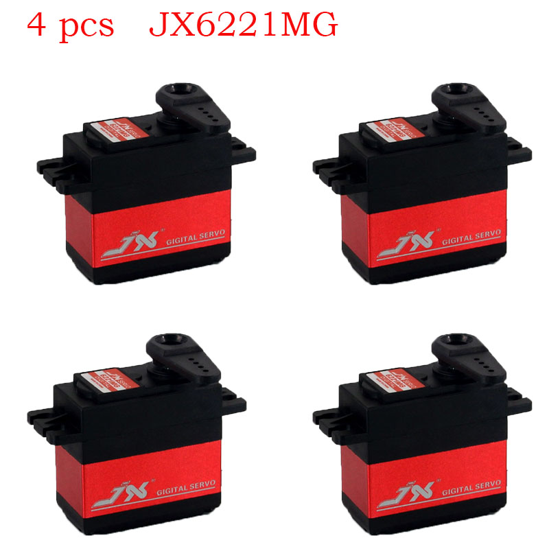 4 piezas JX6221MG 20 kg servo gran Torque Digital Coreless Metal engranajes Servo para RC Car Crawler RC barco RC modelo