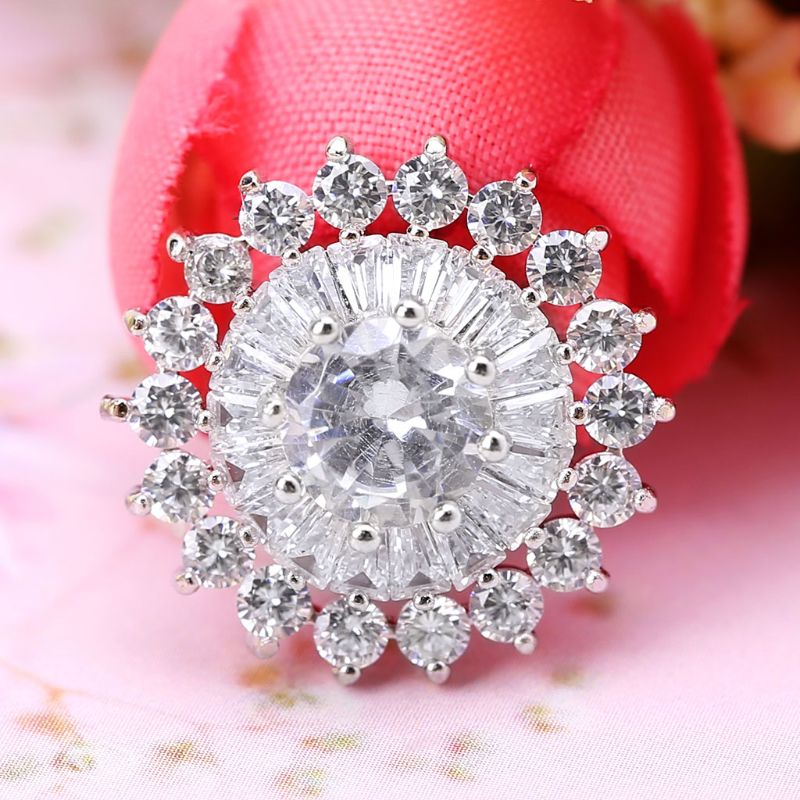1Pc 18mm Glitter Rhinestone Round 3 Layer Cake Shape Decorative Buttons With Metal Loop Shank Hole Sewing Clip Buckle DIY Crafts