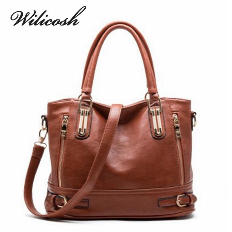 Wilicosh 2017 New Design Women Fashion Handbag Top PU Leather Women's Messenger