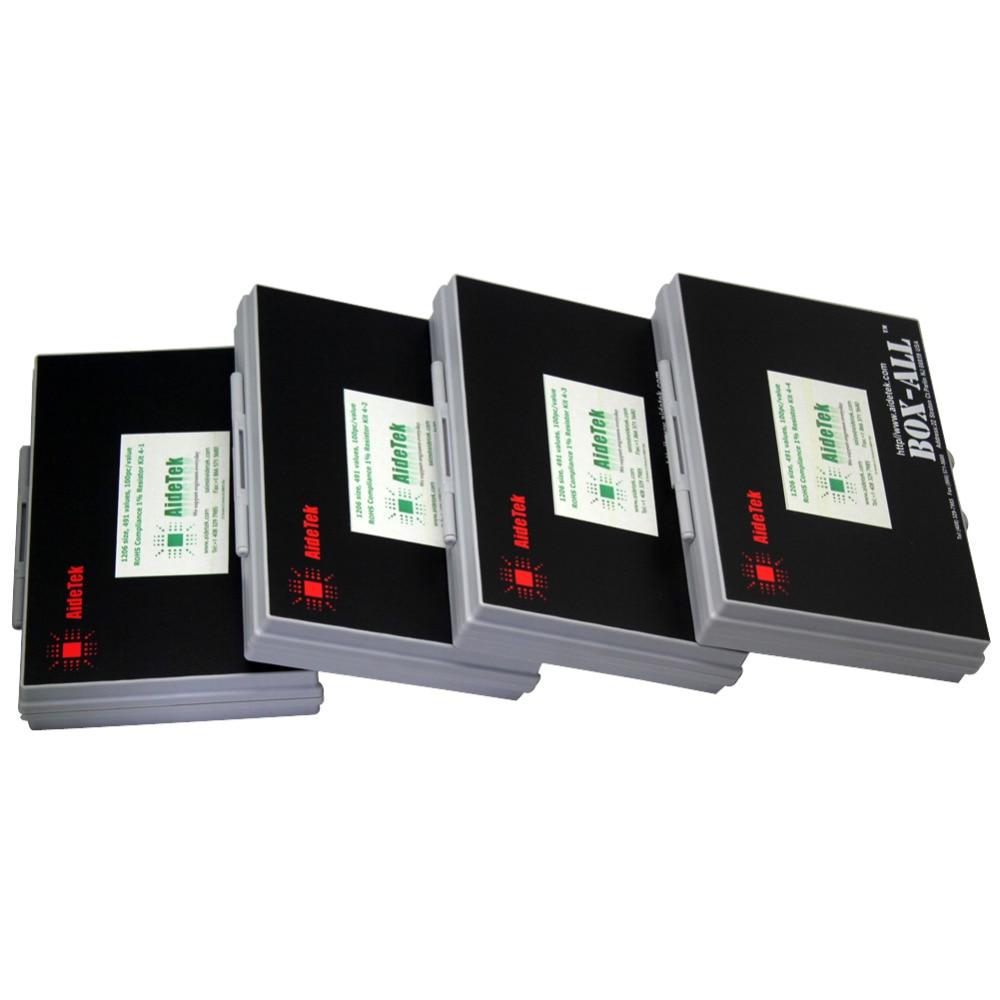 AideTek 1206 takisti BOX komplektid E96 seeria 1% RoHS 491V x100tk - Tööriistade hoiustamine - Foto 3
