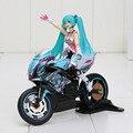 Hatsune Miku Racing chica de la motocicleta Figma 233 PVC Anime figuras de acción figurativo colección Boy Juguetes para niños Juguetes Brinquedos