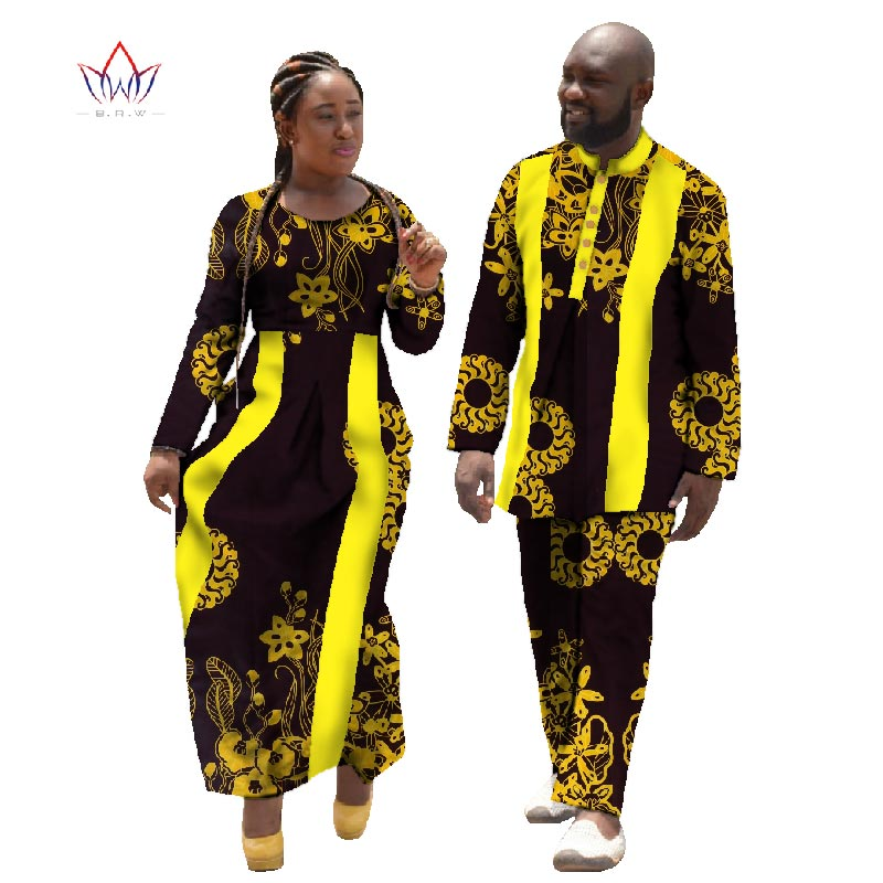 3be32879d932b 2019 African Print Dresses for Women Bazin Long Dress Women Couples Clothing  Plus Size 6xl Spring