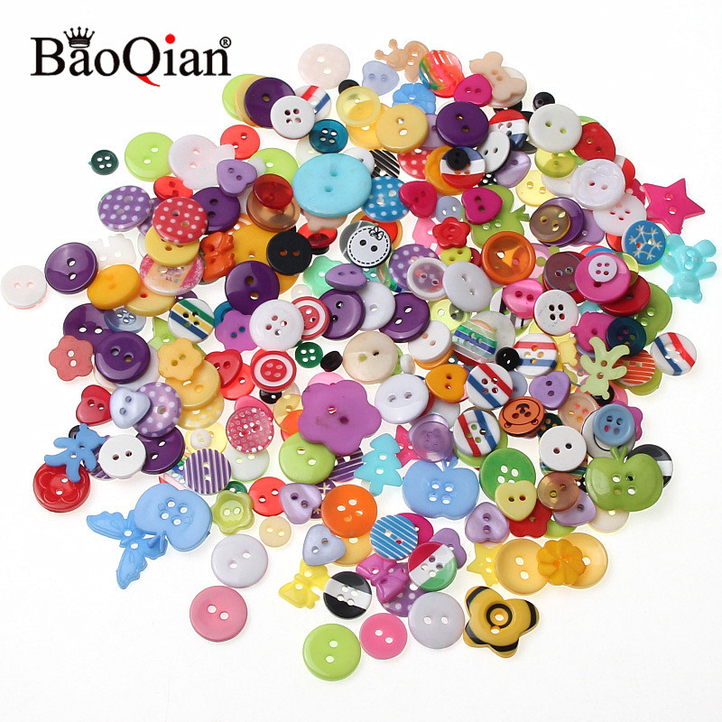 100Pcs Mixed Feeding Bottle Shape Wooden Sewing Buttons Scrapbooking DIY