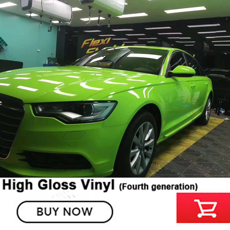Cristallo lucido apple verde Del Vinile dell'involucro germogli verde Adesivi Per Auto Per Tutti I Modelli di Auto di Quarta generazione Importato colla