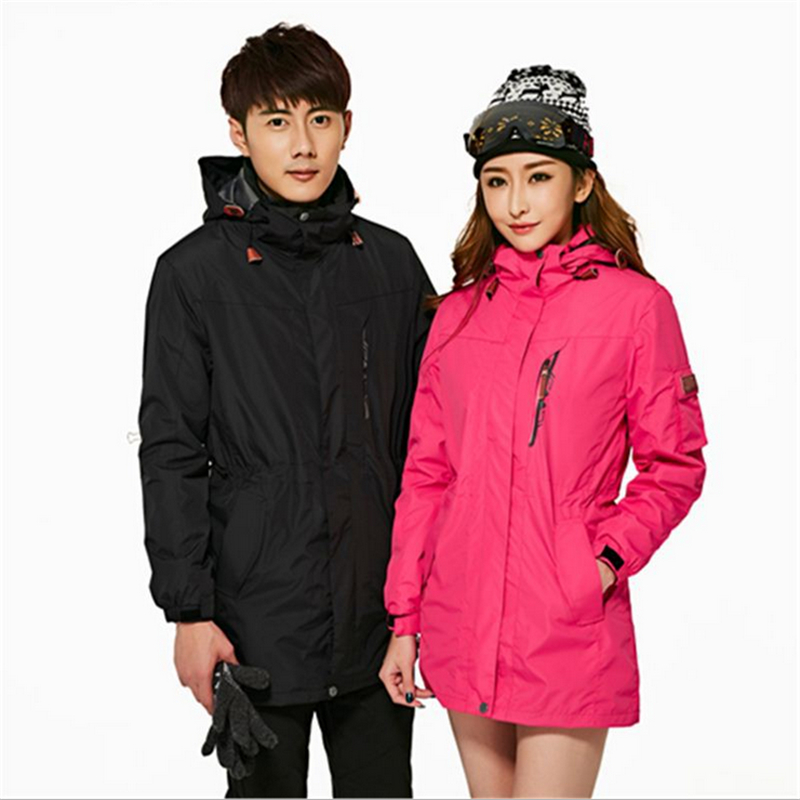 Two piece set Jacket+Linner Men Waterproof Camping Hiking Coat Mountaineering Suit Climbing Winter Autumn Ski Snowboard Pizex cqb winter men two piece set outdoor jacket waterproof windproof mountaineering coat camping hiking thermal jacket