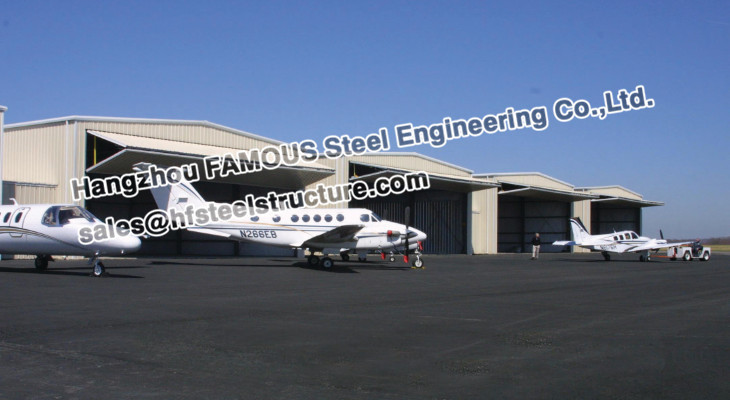 Light Weight Steel Structure Airplane Hanger For Parking
