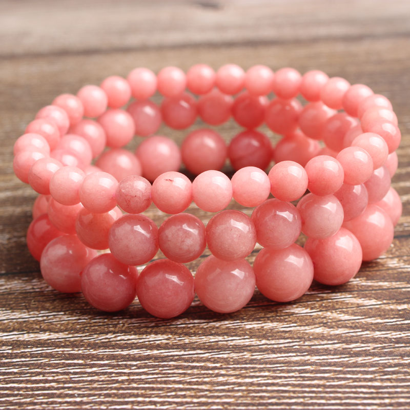 LanLi 4 12mm Fashion natural Jewelry Red amazon beads bracelet be fit for men and women Accessories and amulets in Beads from Jewelry Accessories