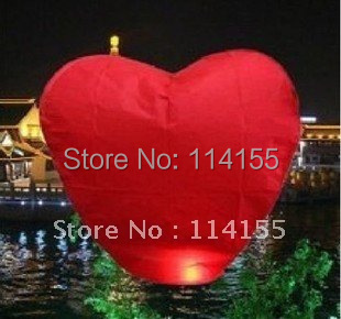 Factory Direct 10pieces/Lot Love Heart Flying Sky Lanterns For Wedding Promotional Gift