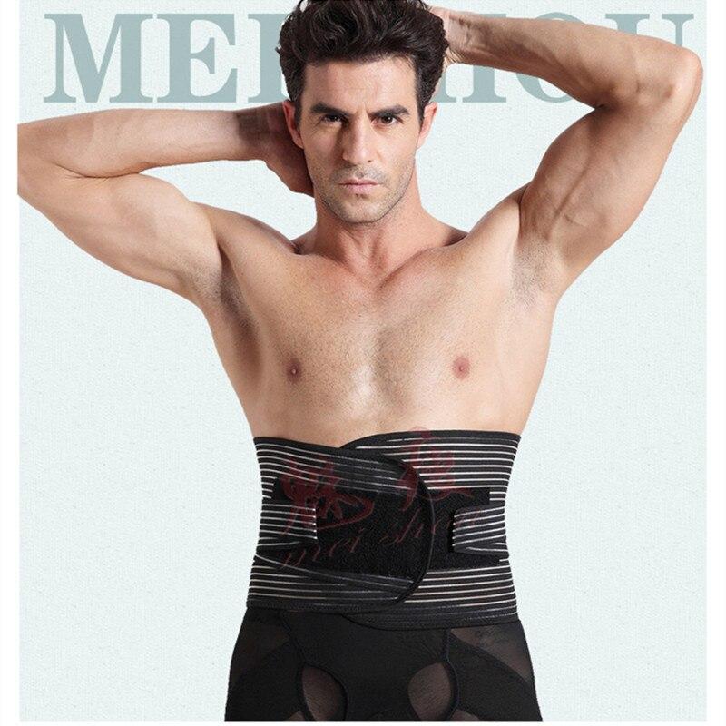 Men with thin waist abdomen belt flat belly waist belt to reduce belly plate of lumbar disc herniation in foreign trade