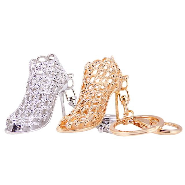New High heel shoes key chains rhinestone