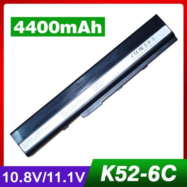 4400 mah batería del ordenador portátil para asus k42n k52 k52d k52de k52dr k52dv K52DY K52F K52J K52JB K52JC K52JE K52JK K52JR K52JT K52JU K52JV