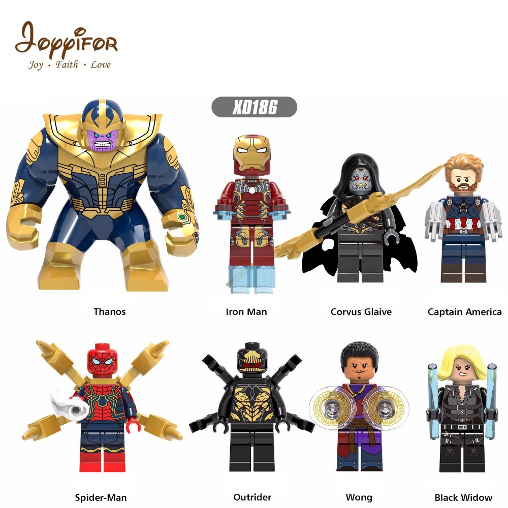 Super Heroes Super hero M Figures Thanos Captain American The Hulk LEGOILYS Building Blocks Mini Bricks Children Toys doll