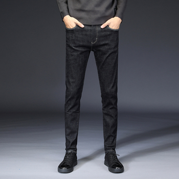 Spring Pencil Jeans Male Cotton Slim Fit Solid Color Denim Trousers 2018 New Fashion Hot Sale Soft Comfortable Pants Size 28 36