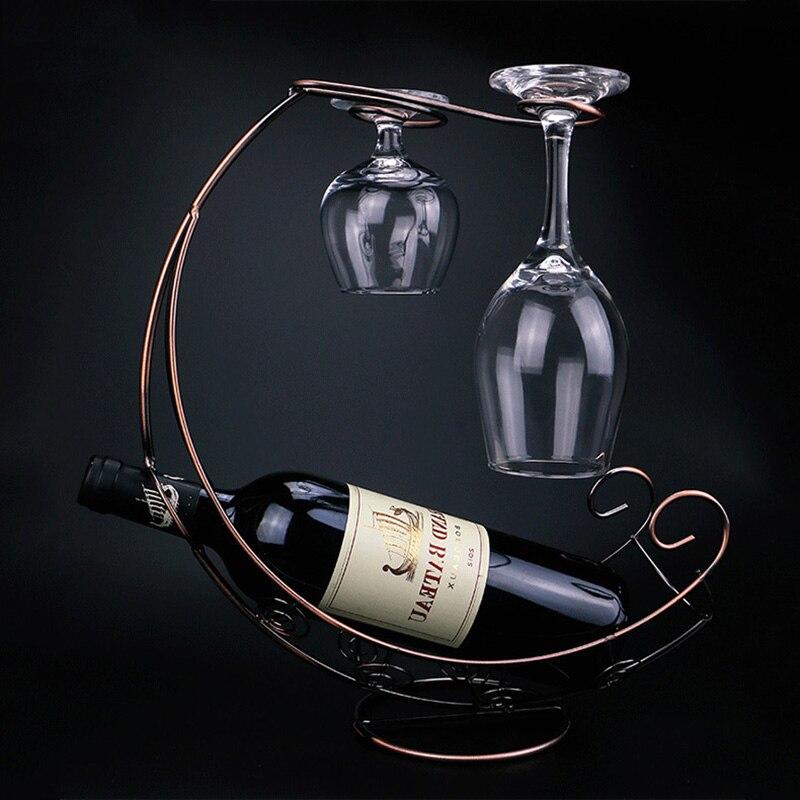 Creative Metal Wine Rack Wine Glass Holder Wine Glass Stand Grape Wine  Bracket Wine Shelf Display Stand Bracket Wine Racks  - AliExpress
