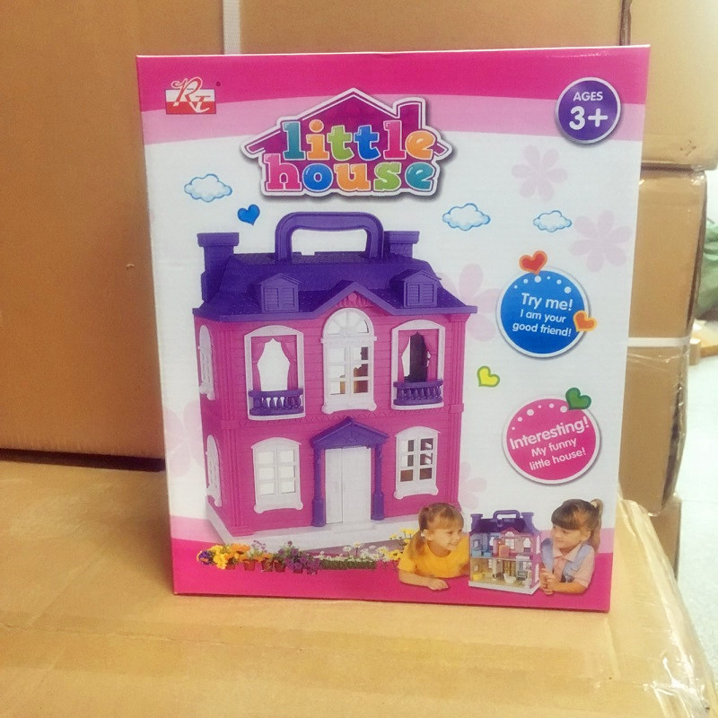Realistas Modelo Diy Niños Juguete 3d En Casa Ensamblar Pisos Para Muñecas Casas Luces De Lol Dos Música Villa EHD2W9YeI