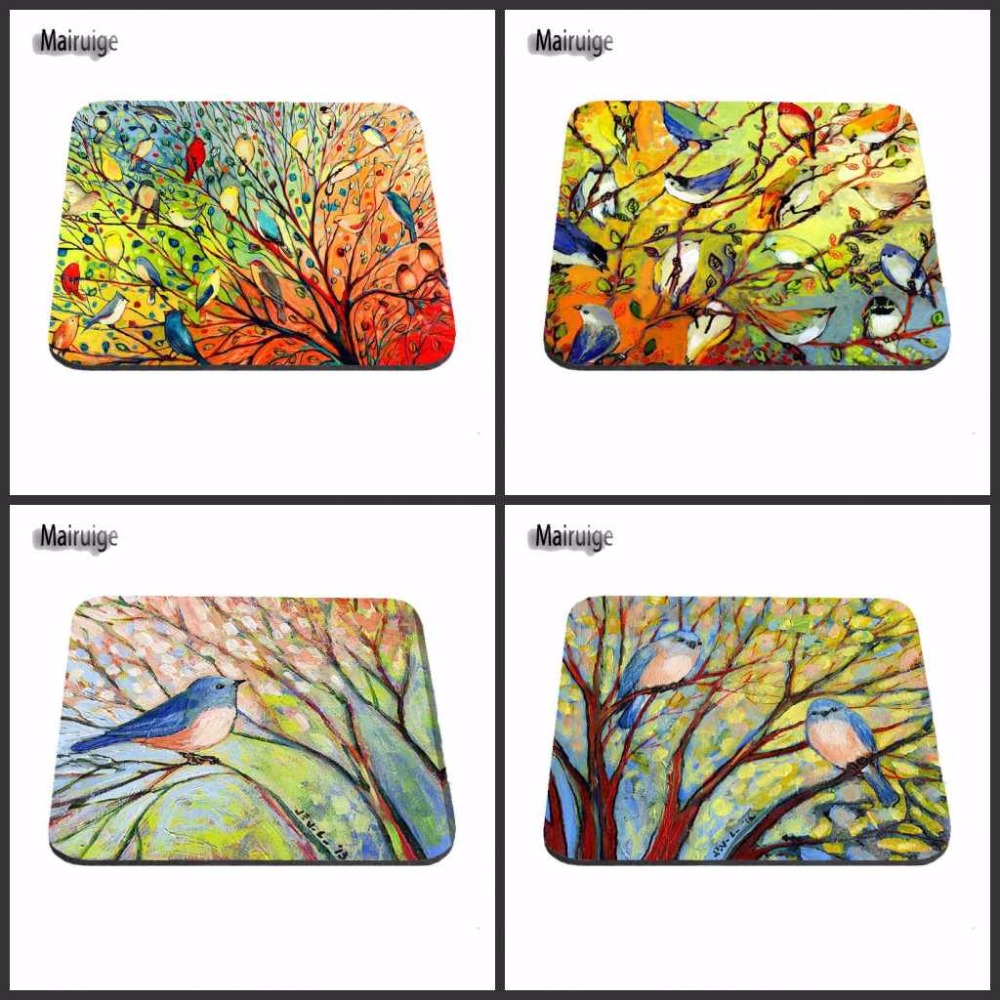 Bird Paintings Of Nature On Canvas Custom High Speed New Popular Game Logo Vintage Stylish Mouse Pad Gaming Rectangle Mousepad