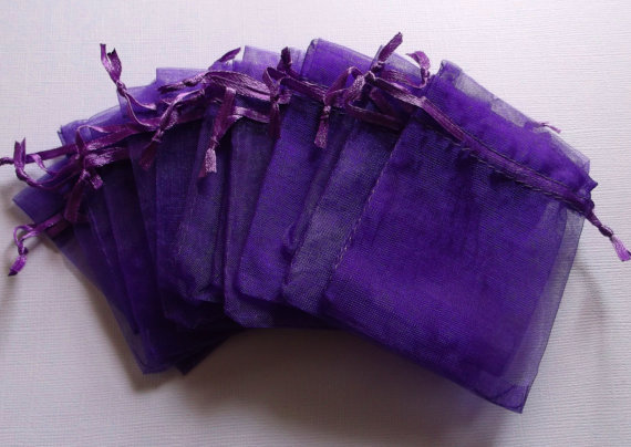 50pcs Lot Magenta Purple Organza Bags 17x23 Wedding Favour Gift Bag Jewellery Pouches
