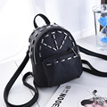 2017 New Female PU Leather Backpack New Spring and Summer Fashion Leisure Korean style Backpack Small Solid Backpack for Girls