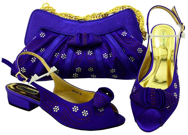 Новый D. фиолетовая Итальянская обувь с сумки в комплекте, Размер 38–43 свадебные туфли Женская итальянская обувь и сумки набор оформлены на с...