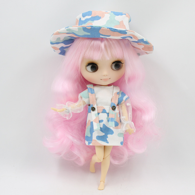 Middle Blyth doll New awake camouflage suit With hat socks panties high quality free shipping