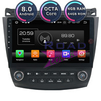 Roadlover Android 8.0 Car Magnitola 2 Din Radio Player For Honda Accord 7 2003 2004 2005 2006 2007 Stereo GPS Navigation NO DVD
