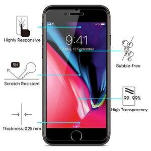 Image 5 - Per iPhone 8 Più di 7 6 6S X XS Max XR 11 Pro 12 Mini 5 S SE 2020 5 Protezione dello schermo Pellicola di Protezione In Vetro Temperato Screenprotector