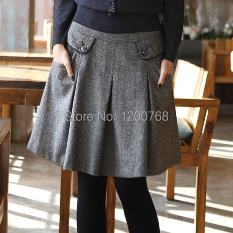 Aliexpress.com : Buy New 2016 Autumn Winter Wool Skirts Women's ...