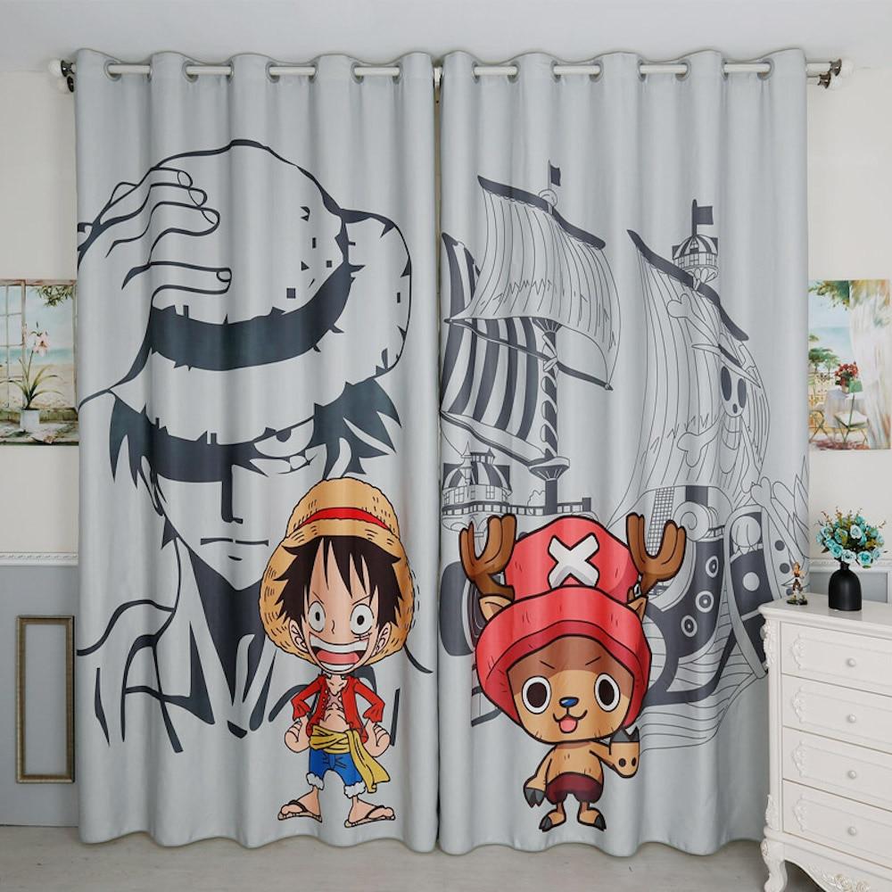 Osobní krejčovství 2x Grommet Window Drapery Curtain Mateřská dětská dětská místnost Window Dressing Tyl 200 x 260cm One Piece Cartoon