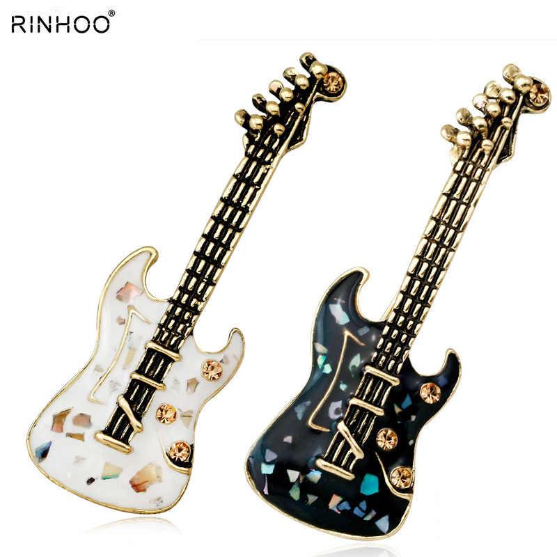 Гитара скрипка зеленый натуральный камень в виде ракушки Кристалл Броши Булавки Винтаж античный золотой стиль для женщин брошь музыкальный инструмент