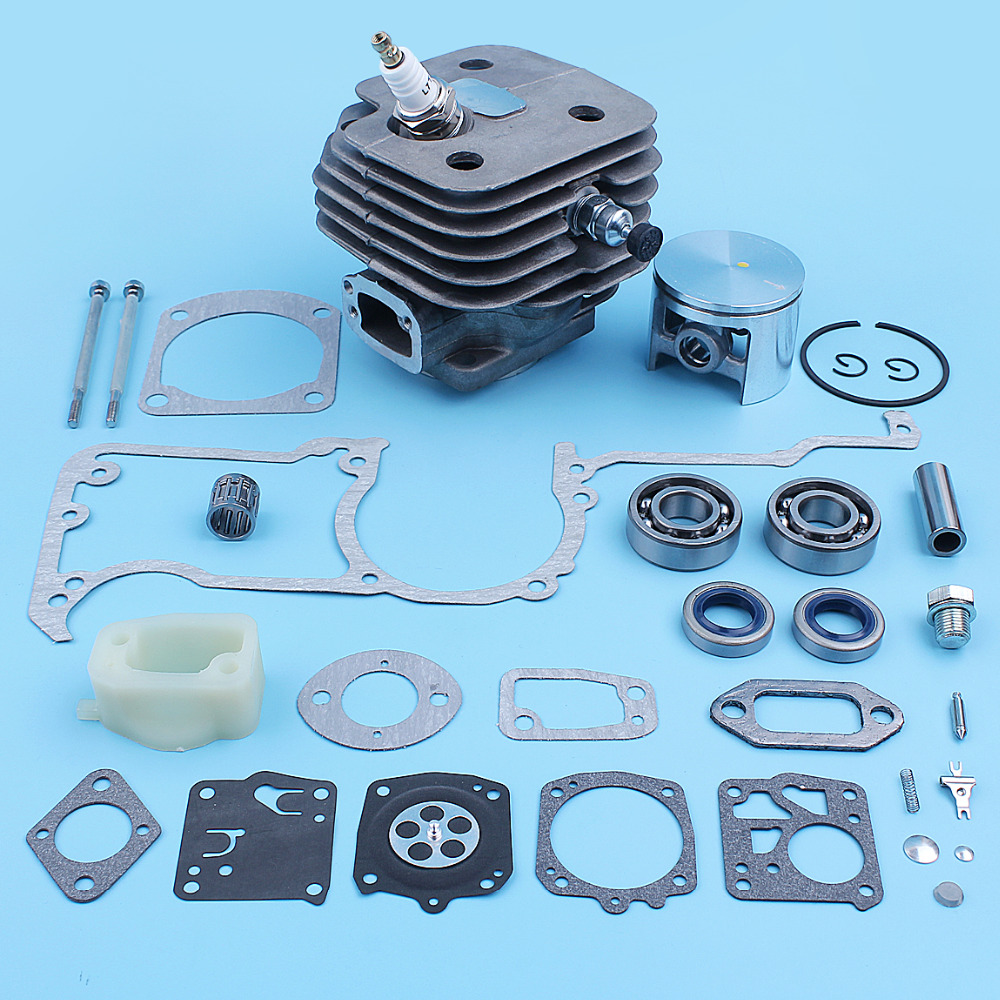 Tools : 52mm Cylinder Piston Bearing Gasket Carb Kit For Husqvarna 272XP 61 268 272 XP Chainsaw Big Bore Chrome Plated Spare Part