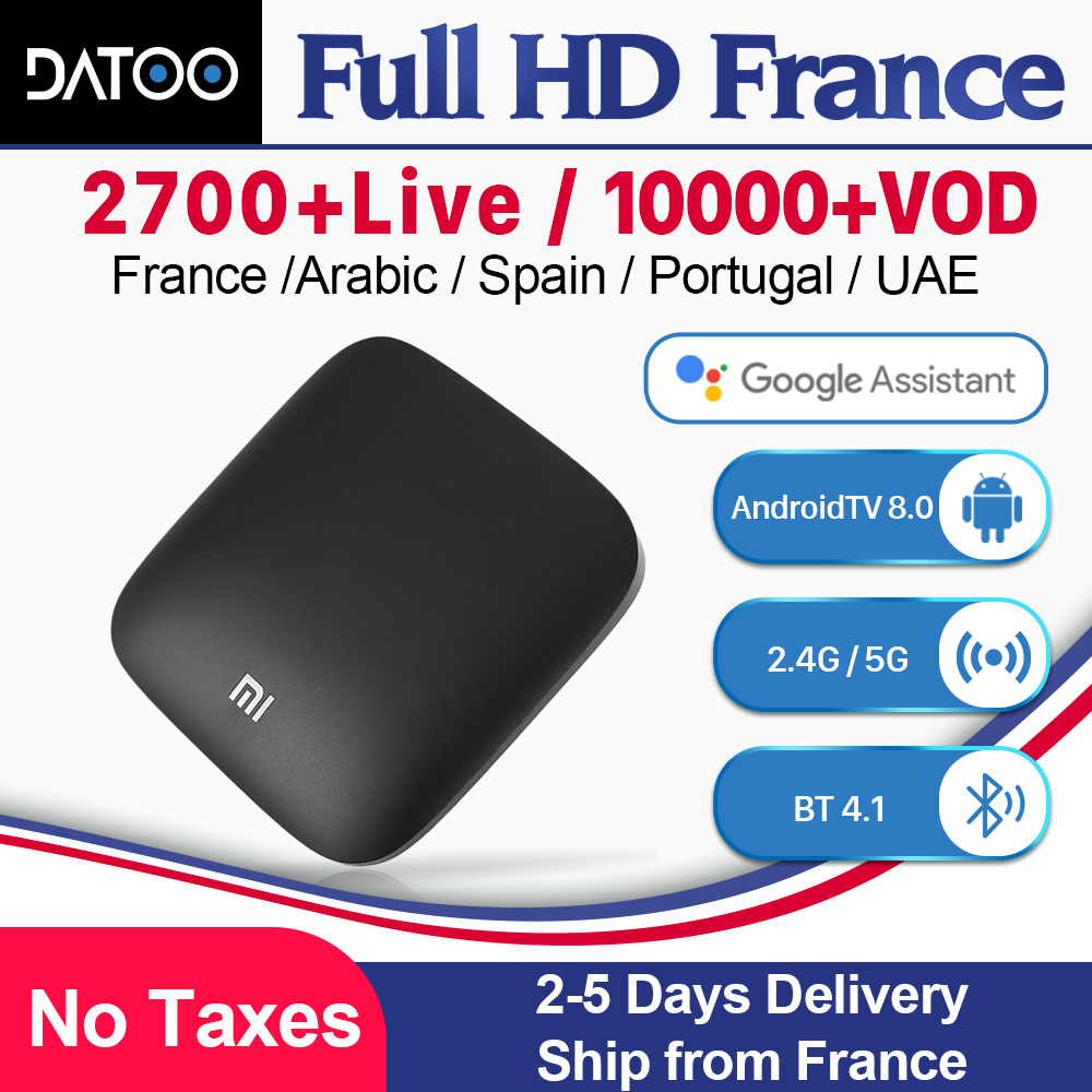 Xiaomi MI Box MI3 France IPTV France Arabic Italy Spain Android TV 8.0 Google Certified IPTV France Italy IPTV Xiaomi MI Box MI3-in Set-top Boxes from Consumer Electronics