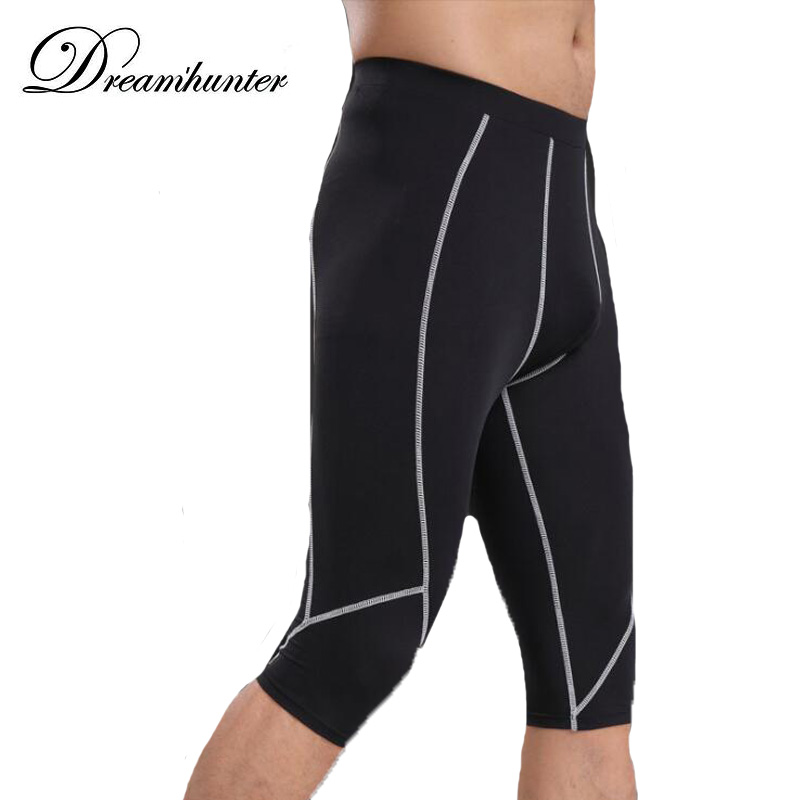 Mens Fitness Skinny Shorts Quick Drying Compression Leggings Summer Casual Workout Joggers Shorts Sweatpants MALE