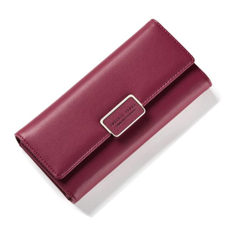 2017 New Fashion Women's designer long Wallets PU Leather Zipper Wallet Women Long Design Purse Color Clutch bag gift