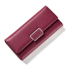 High quality 2018 New Women long Wallet soft PU Leather Clutch bag female card holder phone Purse Wallets