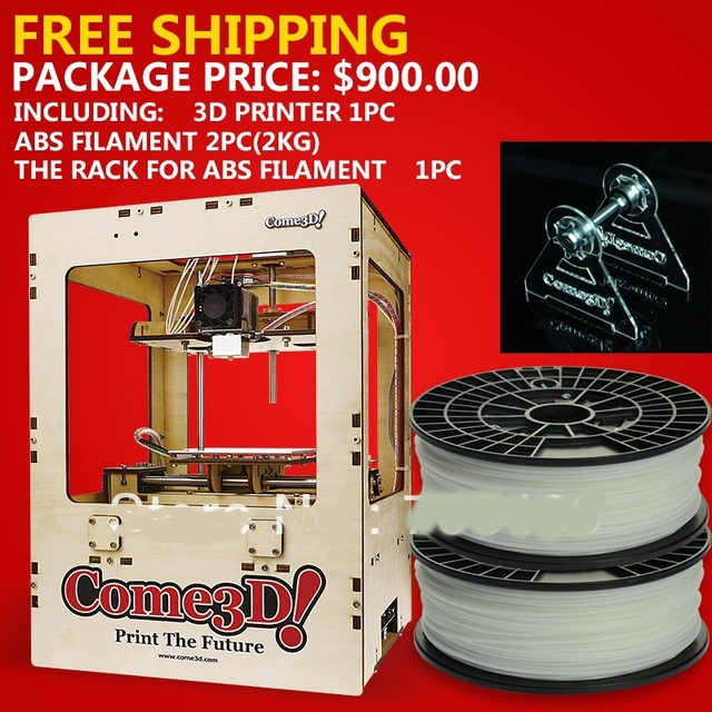 3D Printer ABS extrusion machine+2pcs ABS FILAMENT+1pc the rack for sales promotion
