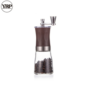 Image 5 - Yrp portátil manual manivela spice/pimenta/porcas/moedor de feijão café com aço inoxidável abs vidro lavável burr café milller