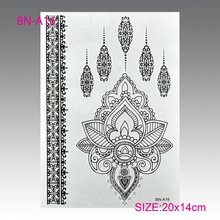 The Stylish Black Arabic Henna Temporary Tattoo Ink Black Woman In Sexy Black Lace Bridal Jewel Tattoos Temporary Tattoos