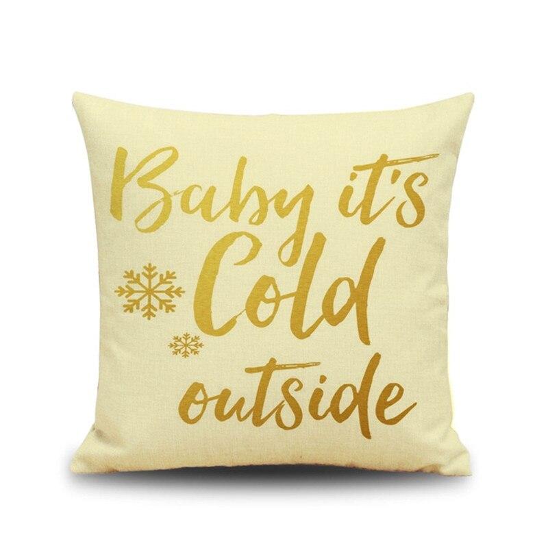 christmas gift letter linen sofa pillow elk waist pillow cushion