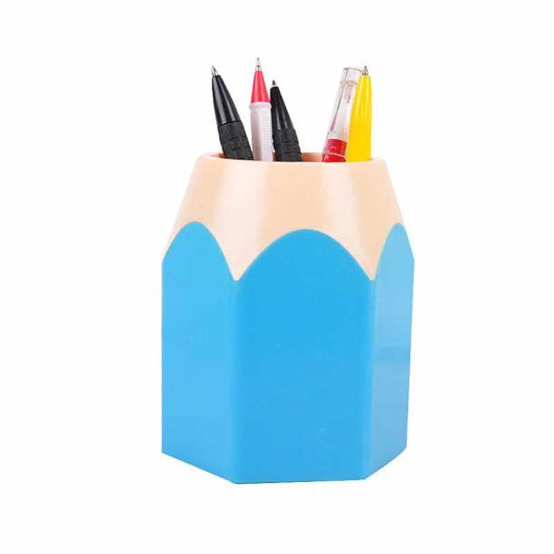 Kuas Makeup Pensil Kotak Penyimpanan Vas Pot Holder Kreatif Alat Tulis Kantor Rapi Penyimpanan Case 2018