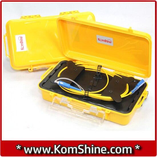 bilder für 1 km SM 1310/1550nm OTDR Toten Zone Eliminator, faser Ringe, Lichtwellen OTDR Glasfaser-testkabel Box
