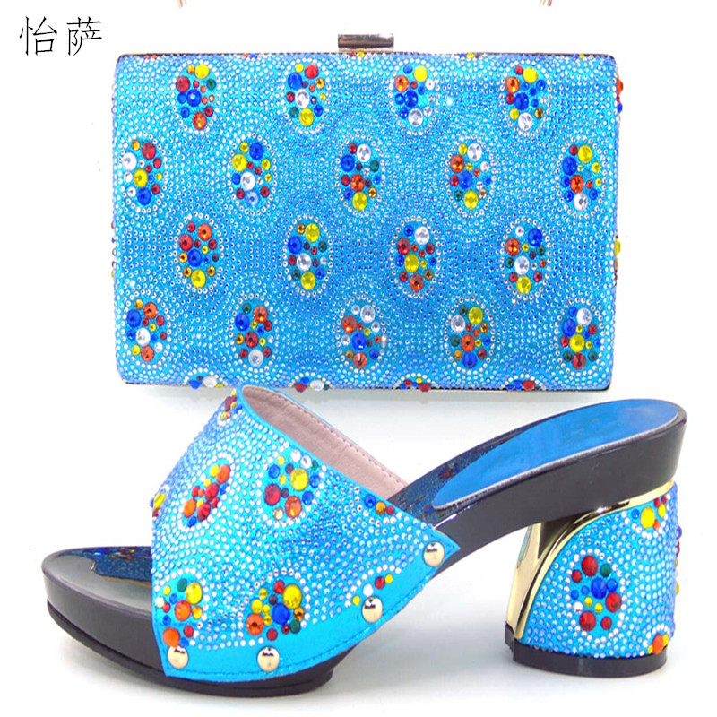 New Elegant Italy ladies Shoes And Bag Set African Lady Shoes And Matching Bags Italian Design For Party/Wedding !DL1-11 gg6 2016 new design hot sale elegant and luxury rhinestones african handbag for wedding party
