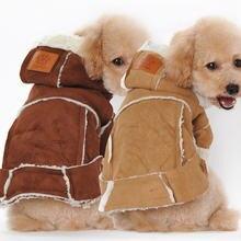 Модная Милая зимняя одежда для собак из берберского флиса четыре