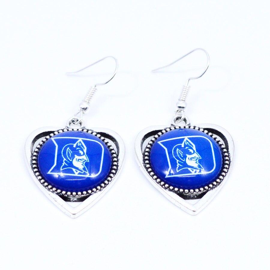 Earrings NCAA Duke Blue Devils Charms Dangle Earrings Sport Earrings Basketball Jewelry for Women Birthday Party Gift 5 pairs